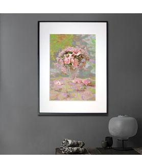 Plakat kwiaty w ramie Kwiaty w szklance