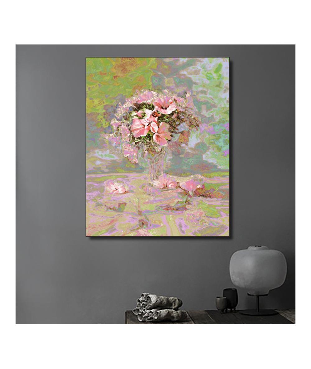 Obraz do salonu glamour Kwiaty w szklance