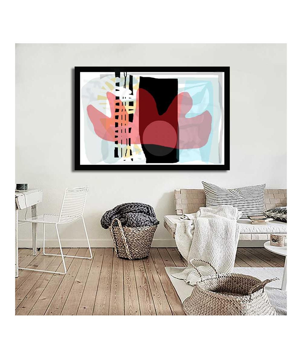 Obrazy abstrakcyjne - Obraz na płótnie abstrakcja Miasto w słońcu