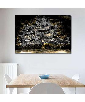 Obraz złote drzewo Księżycowe drzewo