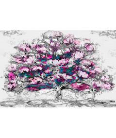 Drzewo ilustracja Drzewo różowych magnolii