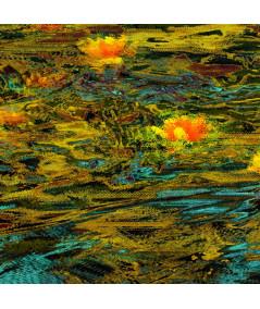 Obraz pejzaż Złoty staw z marginesem