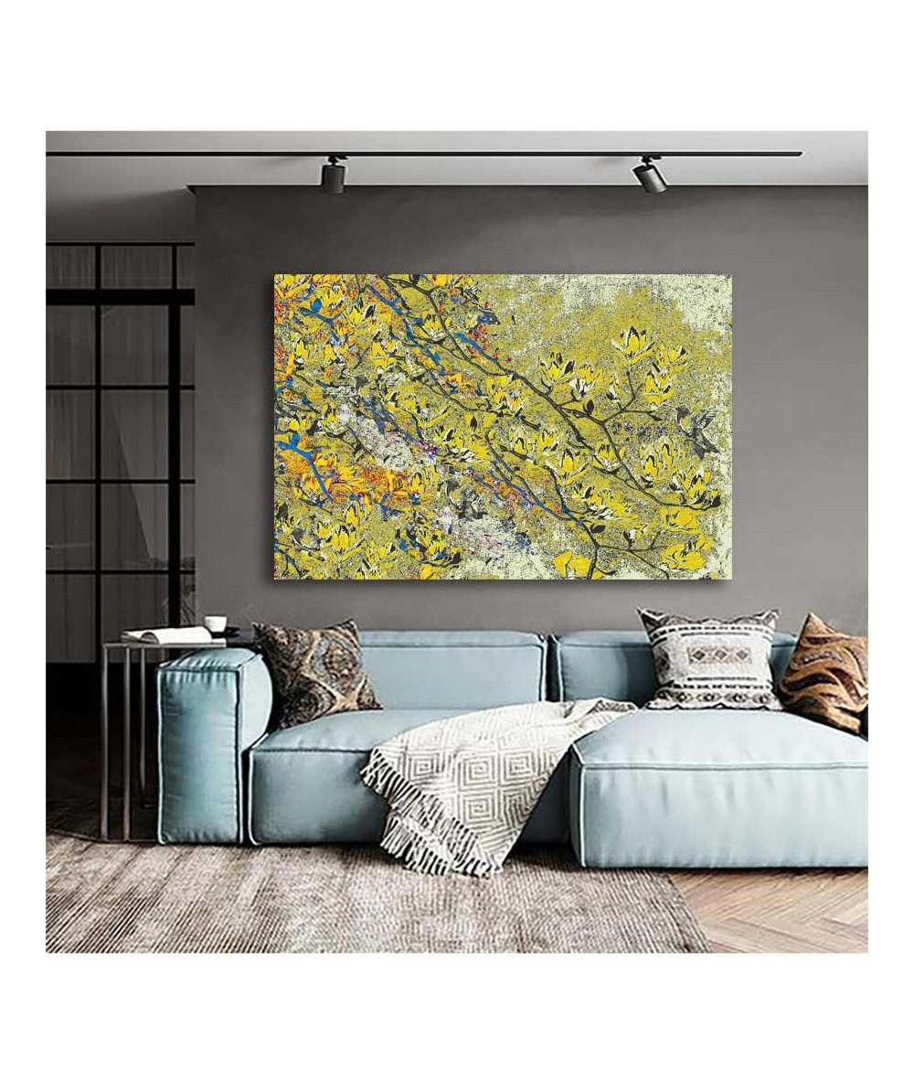 Magnolia obraz żółty Żółte...