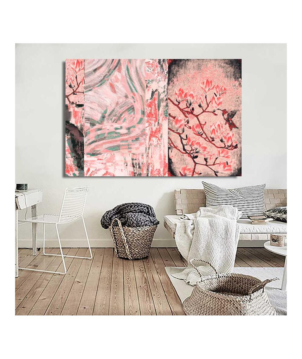 Obraz z magnoliami Czerwone...