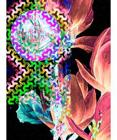 Fajny plakat Grafika z winnymi magnoliami