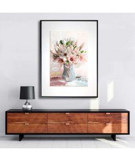Magnolie grafika w ramie Magnolie w wazonie