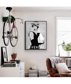 Audrey Hepburn plakat na ścianę Suknia Givenchy