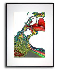 Plakat o miłości w ramie Kolorowe pocałunki