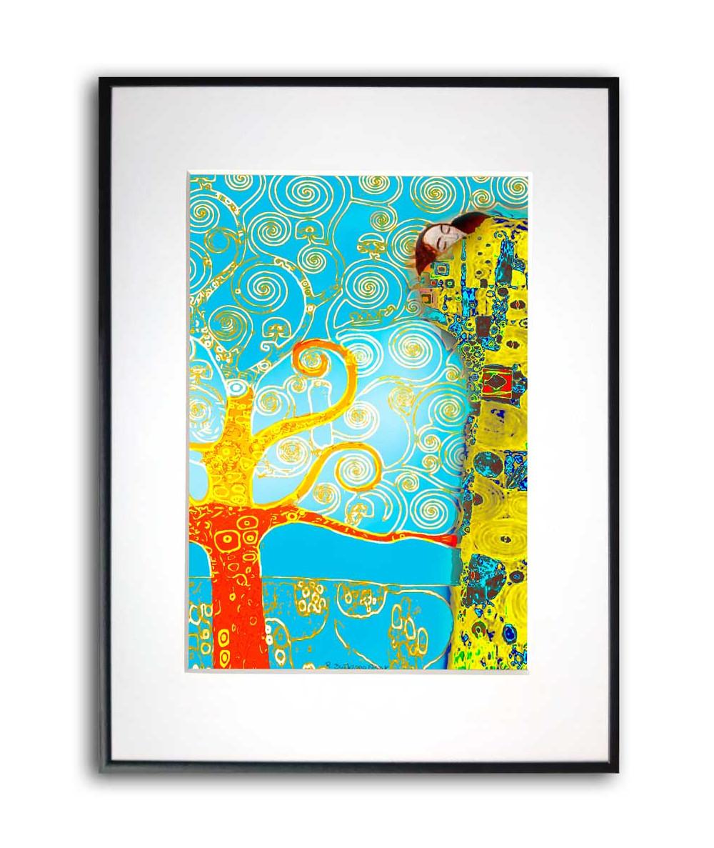 Plakat w ramie Pocałunek w turkusie
