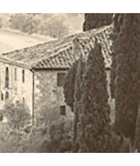 Plakat sepia w ramie San Quirico d'Orcia (fragment)
