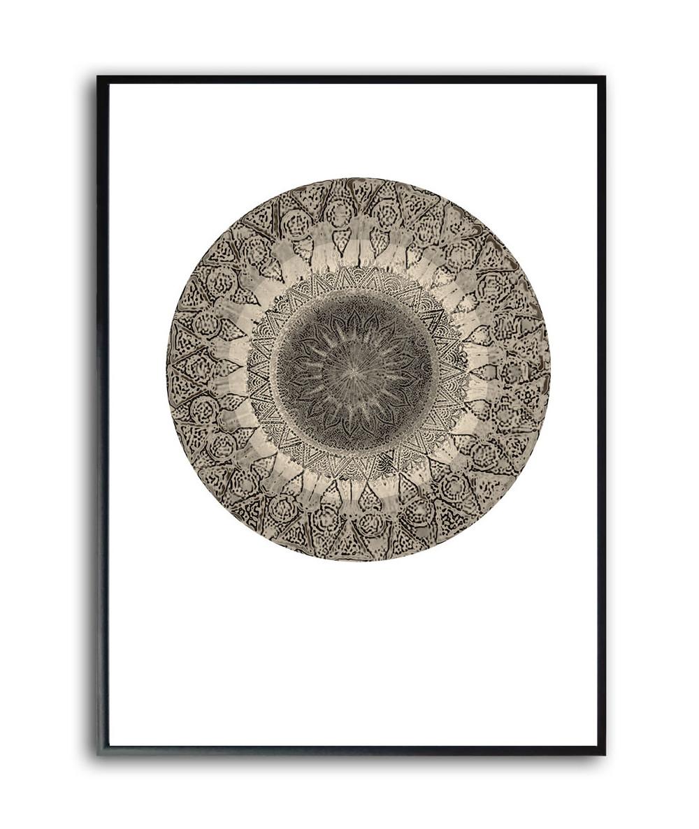 Nowoczesny plakat w ramie Mandala stone koło