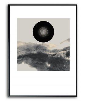 Nowoczesny plakat w ramie Krajobraz z mandalą
