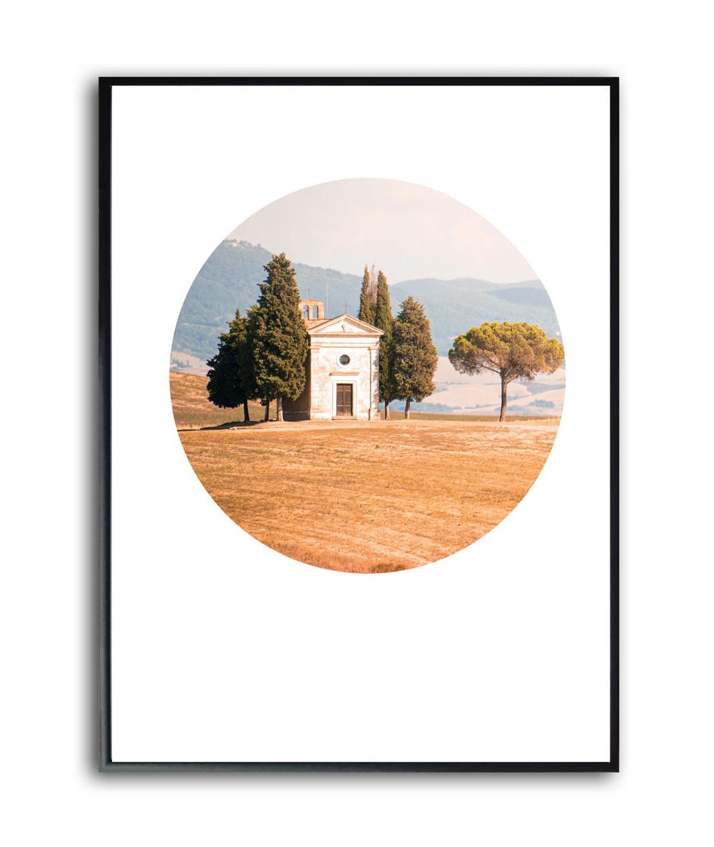Nowoczesny plakat w ramie Włochy Toskania