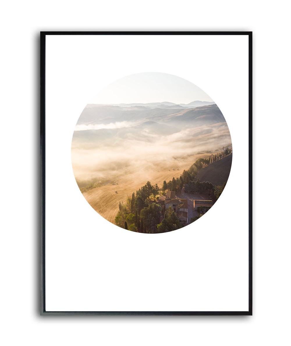 Nowoczesny plakat w ramie Wzgórza Toskanii