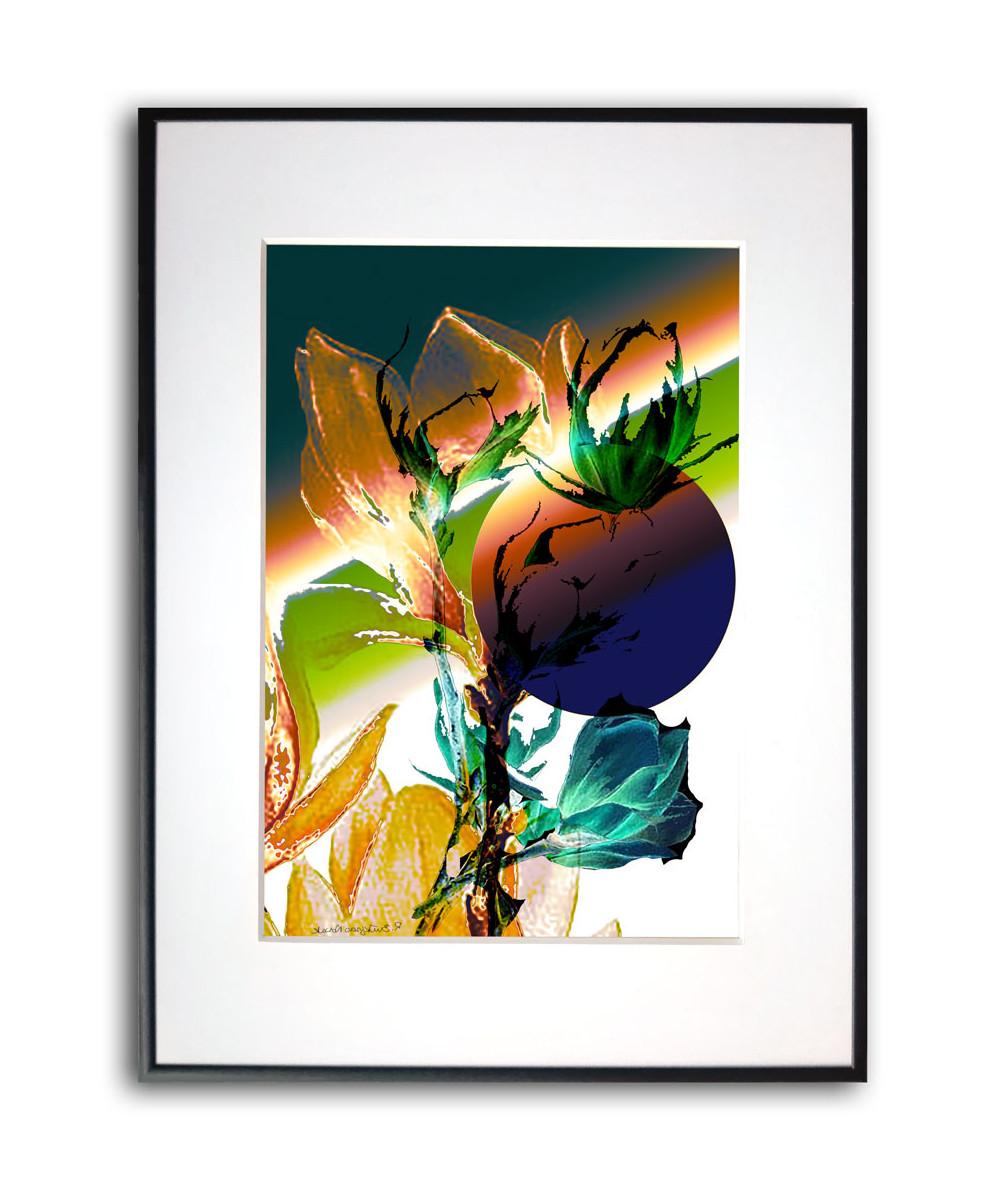 Magnolie plakat w ramie Tęczowe magnolie