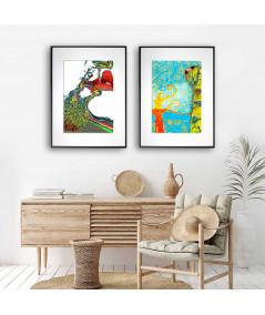 Plakaty miłosne do salonu zestaw