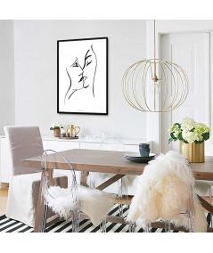 Grafiki obrazy plakaty - Plakat w ramie na ścianę Grafika pocałunek 8