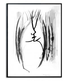 Plakat w ramie na ścianę Grafika pocałunek 5