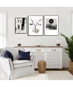 Plakat miłosny minimalistyczny Kochankowie