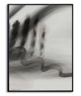 Plakat abstrakcyjny pejzaż Simplicity no. 18