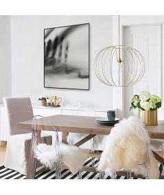 Plakat abstrakcyjny pejzaż Simplicity no. 18 w salonie