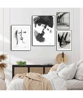 Zestaw czarno białych plakatów