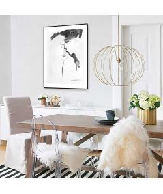 Plakat walentynki z pocałunkiem na ścianę do salonu, jadalni, sypialni