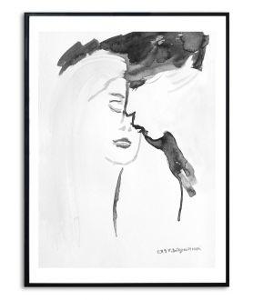 Plakat walentynki z pocałunkiem Kiedy zamykam oczy