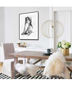 Plakat akwarela z kobietą do salonu w stylu glamour