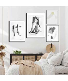 Plakaty czarno białe do sypialni