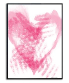 Grafika serce w ramie Rozmarzone serce