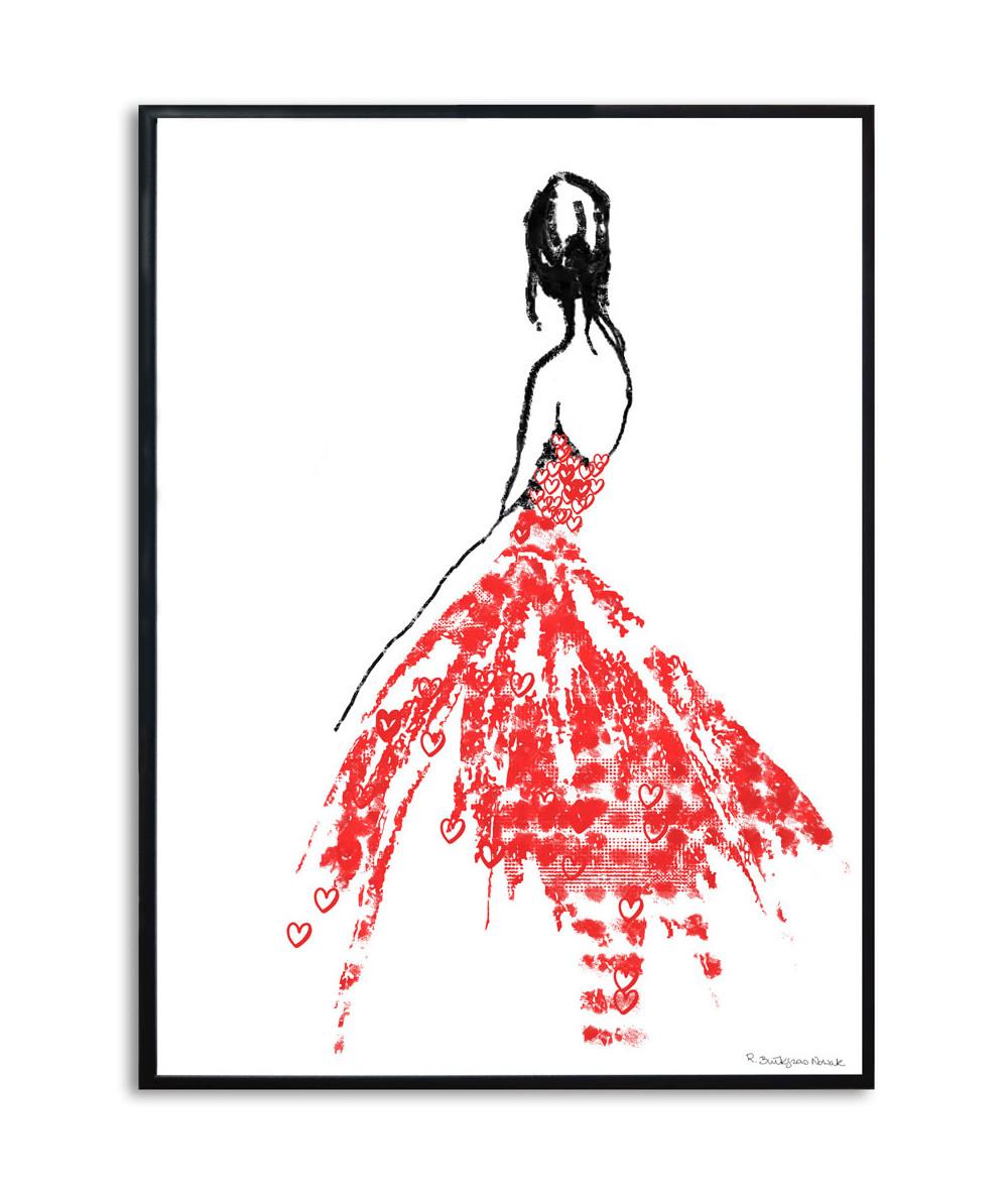 Plakat na walentynki Ubrana w miłość