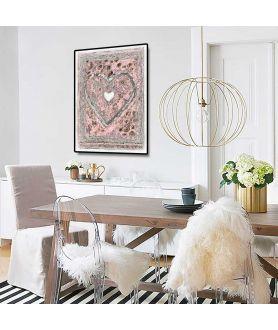 Plakat serce na ścianę do salonu, jadalni, kuchni.