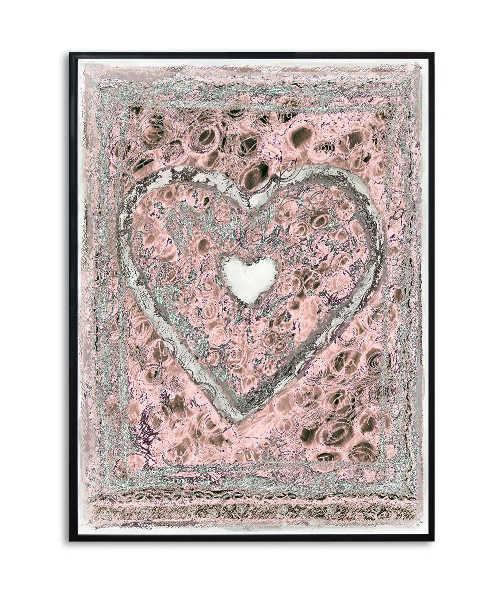 Plakat serce na ścianę Prowansalskie serce