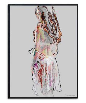 Plakat z kobietą na ścianę Kobieta w halce