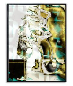 Plakat glamour na ścianę Wino i kobiety
