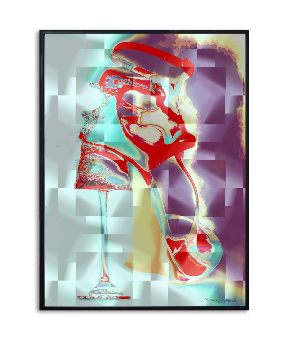 Plakat geometryczny na ścianę Szkło i kobieta