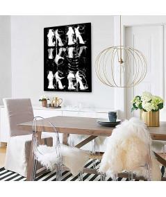 Plakat fashion z butami na ścianę Białe buty