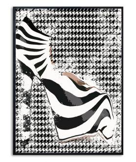Minimalistyczny plakat fashion Zebra w mieście