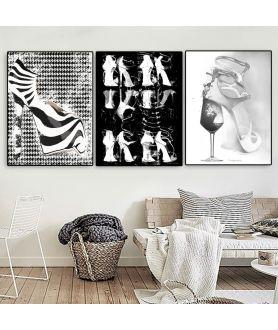 Plakaty czarno białe do salonu