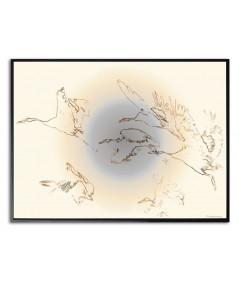 Plakat ptaki na ścianę Żurawie w locie