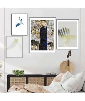 Plakaty w sypialni nad łóżkiem