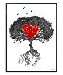 Plakat na ścianę Drzewo mój dom