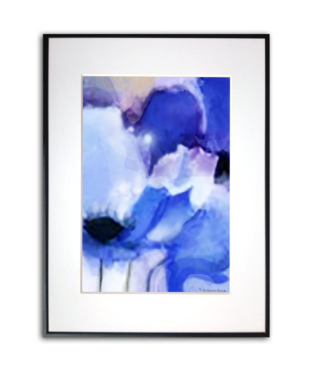 Plakat niebieski na ścianę Niebieskie maki