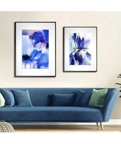 Obrazy kwiaty - PLAKAT NA ŚCIANĘ - NIEBIESKIE MAKI