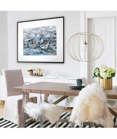 Plakat muszle do pokoju dziennego Muszle w morzu - Grafiki Obrazy