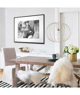 Plakat czarno biały Miłość wersja czarno biała - Grafiki Obrazy