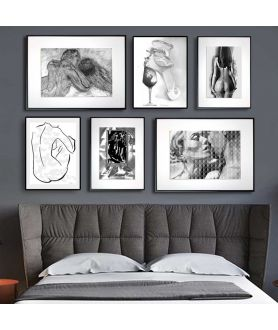 Zestaw plakatów do sypialni - Grafiki Obrazy