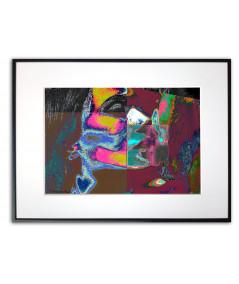 Plakat geometryczny na ścianę Miłosny pocałunek