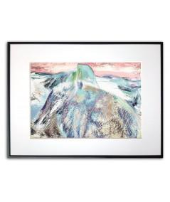 Plakat góry skandynawski na ścianę Góra